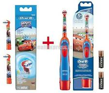 Oral-B Stages Power Battery Toothbrush Disney Cars +  Replacement Brush Heads.