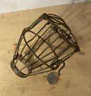 Antique vtg industrial wire bulb cover light fixture part