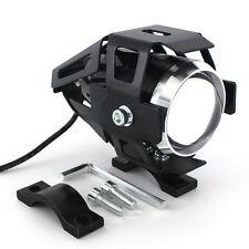 125W U5 Motorcycle Motorbike Headlight Cree LED Fog Spot Lights Bulb Kit Black