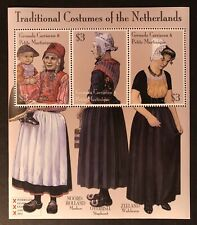 GRENADA COSTUMES OF THE NETHERLANDS STAMP SHEET 3v 2002 MNH TRADITIONAL CLOTHING