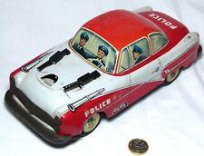 RARO GRANDE Philip niedermier LATTA Toy Machine Gun Macchina della polizia C1950s