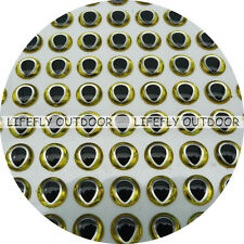 12mm Gold.Silver, Tear Drop Pupil / 400 Soft Molded 3D Holographic Fish Eyes