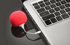 Audio Speaker Ball Rechargeable Very Loud 3.5mm Dock iPhone, iPod, PC, Laptop