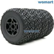 4pcs RC 1/8 Buggy Off Road Short Course Tires & Hex 17mm Wheels Rims For 1:8 Car