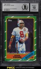 1986 Topps Football Steve Young ROOKIE RC AUTO #374 BGS Auth