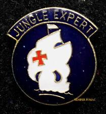 JUNGLE EXPERT SCHOOL LAPEL HAT BADGE PIN UP US ARMY VETERAN QUILT GIFT SAIL SHIP