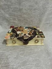 Jeweled Jewelry Box repurposed Vintage Modern Jewelry