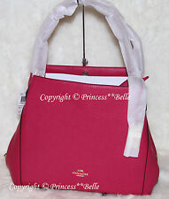 NWT COACH Edie 31 Leather Shoulder Hobo Bag Purse Handbag Cerise Pink $350