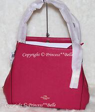 NWT COACH Edie 31 Leather Shoulder Hobo Bag Purse Handbag Cerise Pink $350