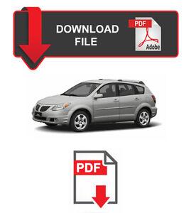Pontiac Vibe 2003 2004 2005 2006 2007 2008 Service Repair Workshop Manual
