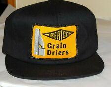 Vintage BERICO GRAIN DRIERS coop corn farm hat K Products Black patch logo