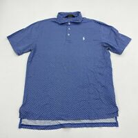 Polo Golf Ralph Lauren Polo Shirt Men's Medium Short Sleeve Blue Cotton Casual