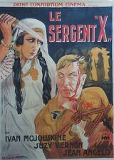 """""""LE SERGENT X"""" Affiche originale entoilée (Ivan MOSJOUKINE, Suzy VERNON)"""