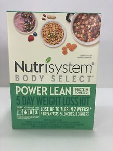 Nutrisystem Body Select Power Lean 5 Day Weight Loss Kit Nib