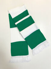 Jacquard Knitted Bar,Fan, Football, Supporter, Green White Bar Scarf