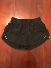 NIKE Women's Dri Fit Running Athletic Gym Shorts Blue Geometric Adult Size Small
