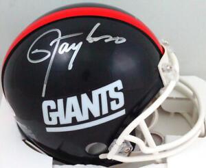 Lawrence Taylor Autographed NY Giants 81-99 TB Mini Helmet- Beckett W *Silver