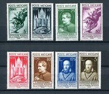 1936.VATICANO.YVERT 72/79*.NUEVOS SEÑAL DE FIJASELLOS(MH).CAT 120 €