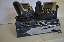 CISCO CCNA CCNP VOICE LAB 2821 256D/128Flash, CME 8.6 IOS 15.1 VOIP 7940G