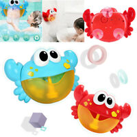 Musical Krabbe Bubble Tube Frosch Automated Tülle Maschine Bläser Bad Kinder Toy