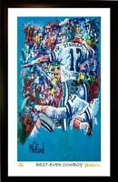 ROGER STAUBACH L.E. 12/199 (STAUBACH'S #12 MOST VALUABLE) PRINT SIGNED, WINFORD