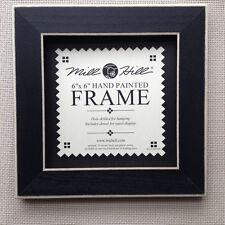 "Small Black Wood Folk Art Frame by Mill Hill 6"" x 6"" opening"