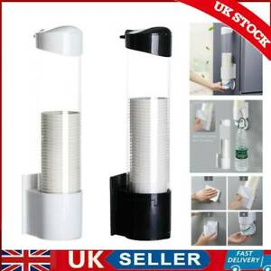 Home Plastic Cups Holder Disposable Cup Rack Dust-proof Paper Cups Dispenser UK