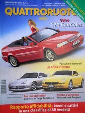 Quattroruote 524 1999 Sfida Porsche - Maserati. Volvo C70 Cabriolet. Kia [Q82]