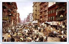 MULBERRY STREET NEW YORK 1900 - FRIDGE MAGNET IMAN NEVERA