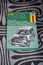 VOLKSWAGEN GOLF & SCIROCCO Haynes Manual 1974-1976