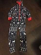 Men's Jumpsuit One Piece Pajama One Piece Suit Holiday Deer Medium M New $60
