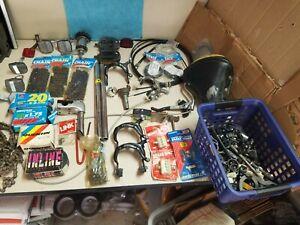 HUGE LOT OF VINTAGE BMX BIKE PARTS - NOS - GT, SHIMANO, + * Stems, necks, more!