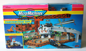 VINTAGE 1995 MICRO MACHINES CONSTRUCTION CITY HIWAYS & BYWAYS GALOOB NEW NOS !