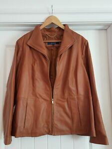 Women's Cole Haan Lambskin Leather Jacket