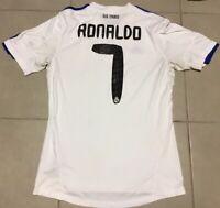 Mens Adidas Cristiano RONALDO #7 Real Madrid Jersey Sz M White/Blue soccer futbo