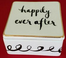 "KATE SPADE BRIDAL PARTY KEEPSAKE BOX: NIB  ""HAPPILY EVER AFTER"" BRIDE/WEDDING"