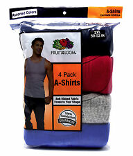 4 Blue Gray Red 2XL 50-52 Inch Fruit Of The Loom A-Shirt Tanks 2EG 127-132 CM