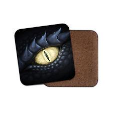 Posavasos Ojo de dragón negro fresco-Para Juegos Dragones Diversión Regalo Niños Adolescentes #8799