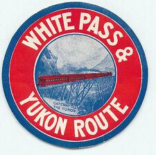ALASKA WHITE PASS & YUKON ROUTE GREAT OLD RAILROAD LUGGAGE LABEL