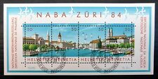 SWITZERLAND 1984 NABA M/Sheet Fine/Used NB1398