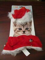 Cat Christmas Hat and Collar Dress Up Set