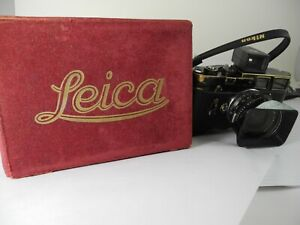 LEICA RED VELVET BOX FOR LEICA M-3 NICE USABLE CONDITION