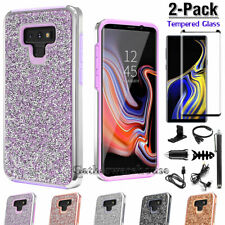 For Samsung Galaxy Note 10 9 8 Bling Glitter Case Cover With Screen Protector