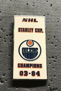 Edmonton Oilers Stanley Cup Champions Banner 83-84 NHL Hockey Pin