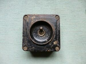 Genuine Vintage (not reproduction) Crabtree A15051 Industrial Metal Light Switch