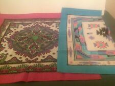 """2 Vintage Made in Usa Poly/Cotton Springs In. Rn16463/14193 Bandana's 20.5"""""""
