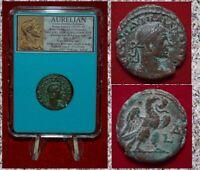 Ancient Roman Empire Coin AURELIAN Alexandria Eagle Beautiful Coin!