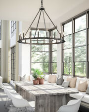 NEW Restoration Hardware Replica Round Transitional Chandelier Farmhouse XL