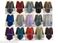 Women's Yak Wool Poncho - Warm Handmade Plain Poncho for Girls Women Winter Care