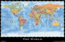 Map - World Wall Poster ~22x34 inches NEW FREE S/H